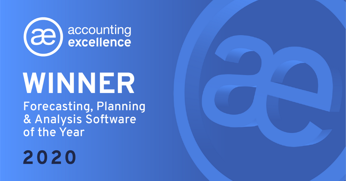 Accounting Excellence Awards, Forecasting, Planning & Analysis Software of the Year 2020 Winner
