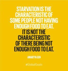 Global goals - zero hunger