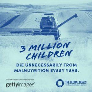 Zero hunger - 3 million children die every year