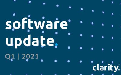 Clarity HQ Software Development Update | Q1 2021