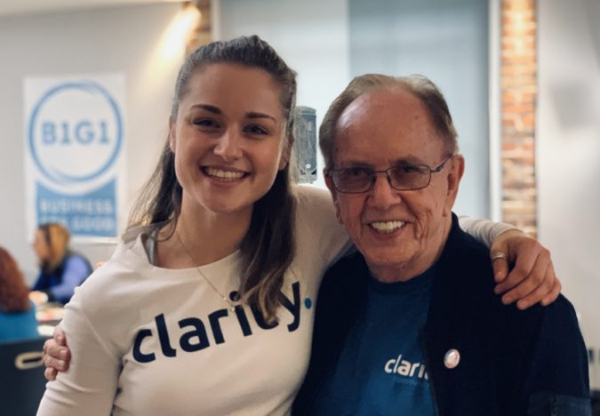 Clarity's Amy Hayes and Paul Dunn